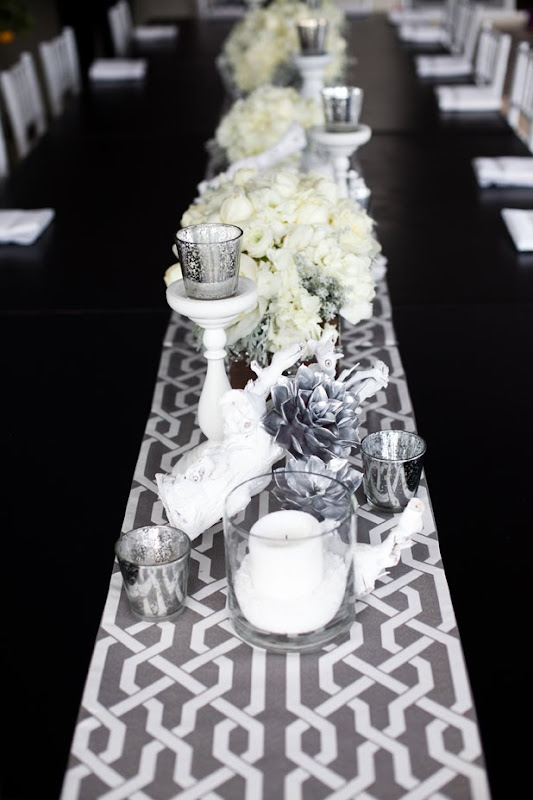 white gray brown wedding