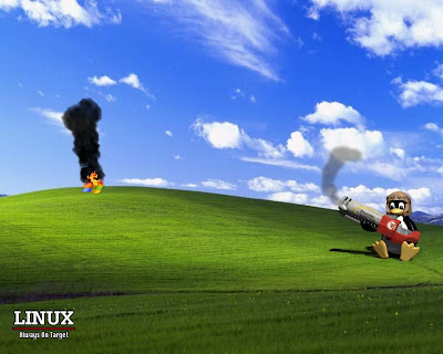 wallpaper linux windows. Linux beat Windows Wallpaper