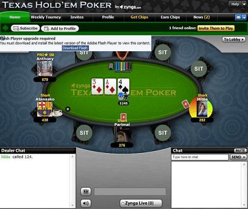 facebook texas holdem poker