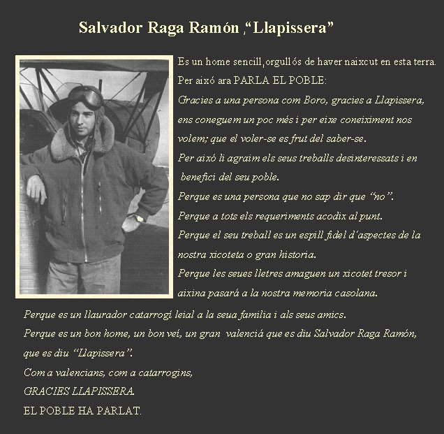 "Salvador Raga Ramn , ""Llapissera"" ."