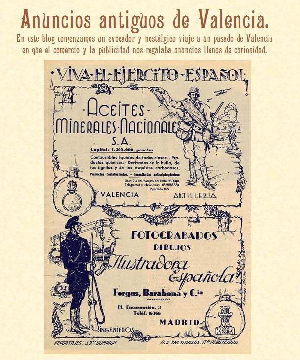 Anuncios antiguos de Valencia.