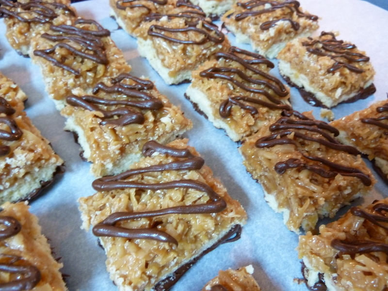 Samoa bar cookies recipe