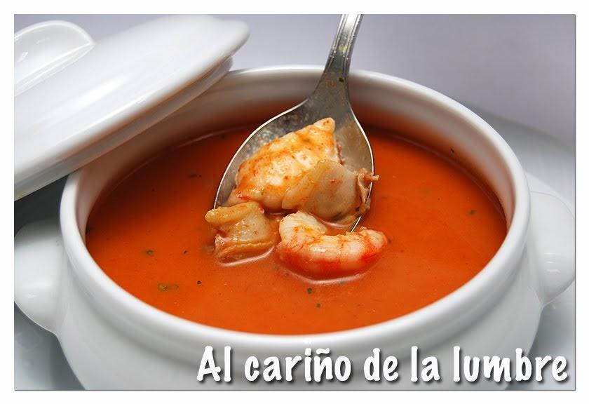 Al cari o de la lumbre sopa de pescado y marisco - Sopa de marisco y pescado ...