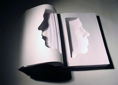 Creative Book Face Sculptures