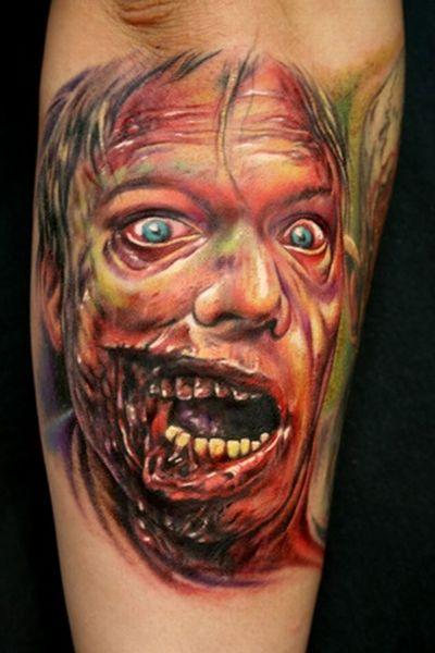 scary zombie tattoos