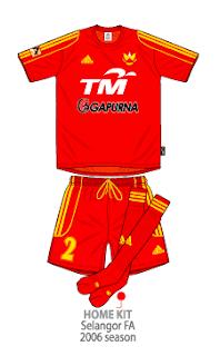 Selangor FA 2006 MALAYSIA SUPER LEAGUE football kits