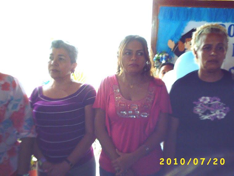 Docentes Nirsa, Rosa María y Francisca