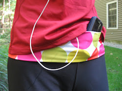 tummietote belt holds cellphone and ipod and much more.