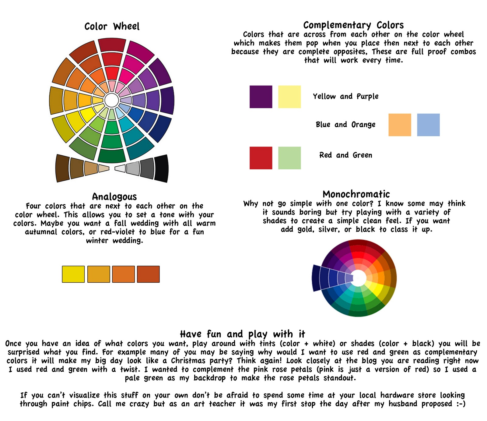 Dollar Store Weddings And Events Bridal Color Theory