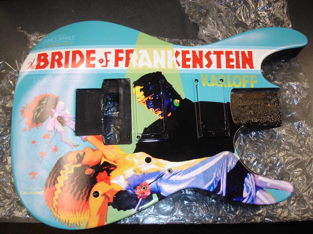 Kirk Hammett Bride Of Frankenstein Guitar Esp bride of frankenstein