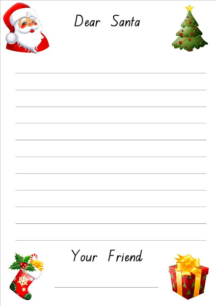 Santa Letter Writing Paper Template