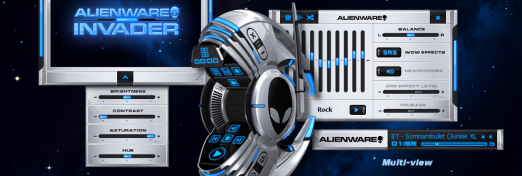 Alienware Invader skin for WMP 11 - Multi view