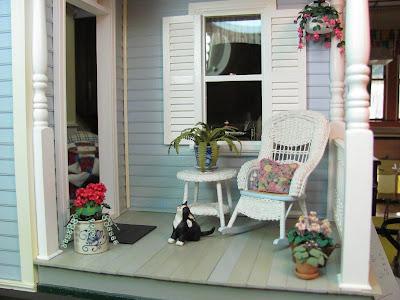 Dollhouse miniature furniture tutorials 1 inch minis - Miniature room boxes interior design ...