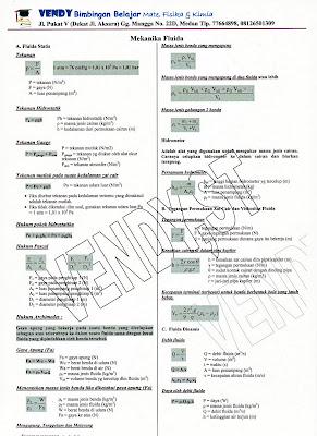 "Rangkuman Rumus Fisika ""Mekanika Fluida"" (SMU kelas XI)"