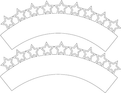 Silhouette Cupcake Wrapper Template Free