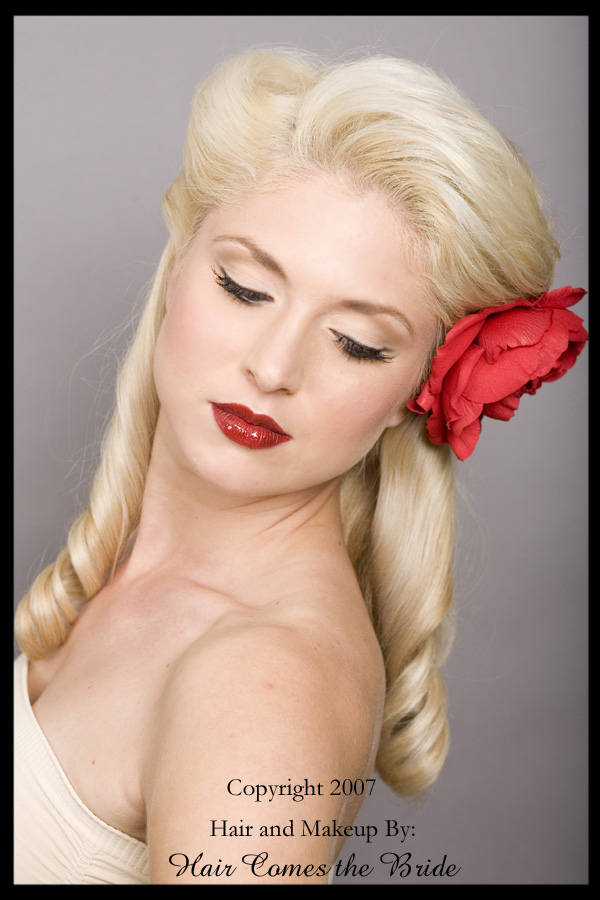 The right products for retro, pin-up girl hair! vintage-hairstyles