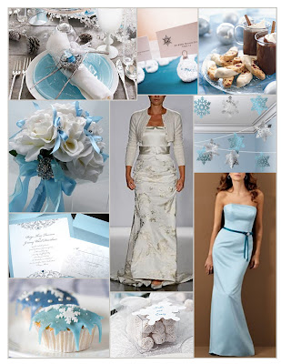Weekend Wedding Light Blue Silver White