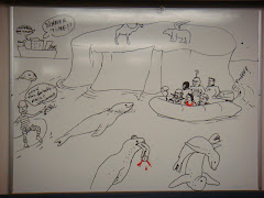 The Antarctic trip cartoon