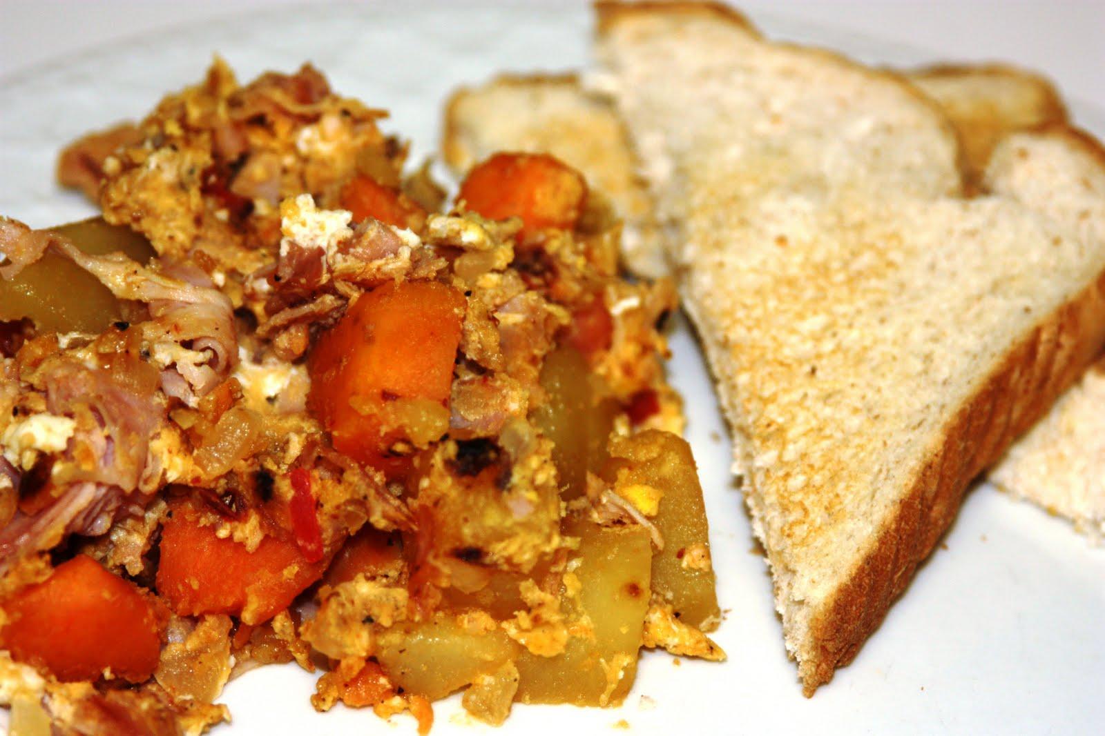 My Recipe Box: Ham and Sweet Potato Hash