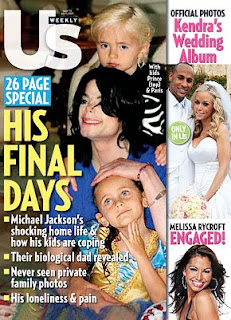 magazine cover death jackson with kids