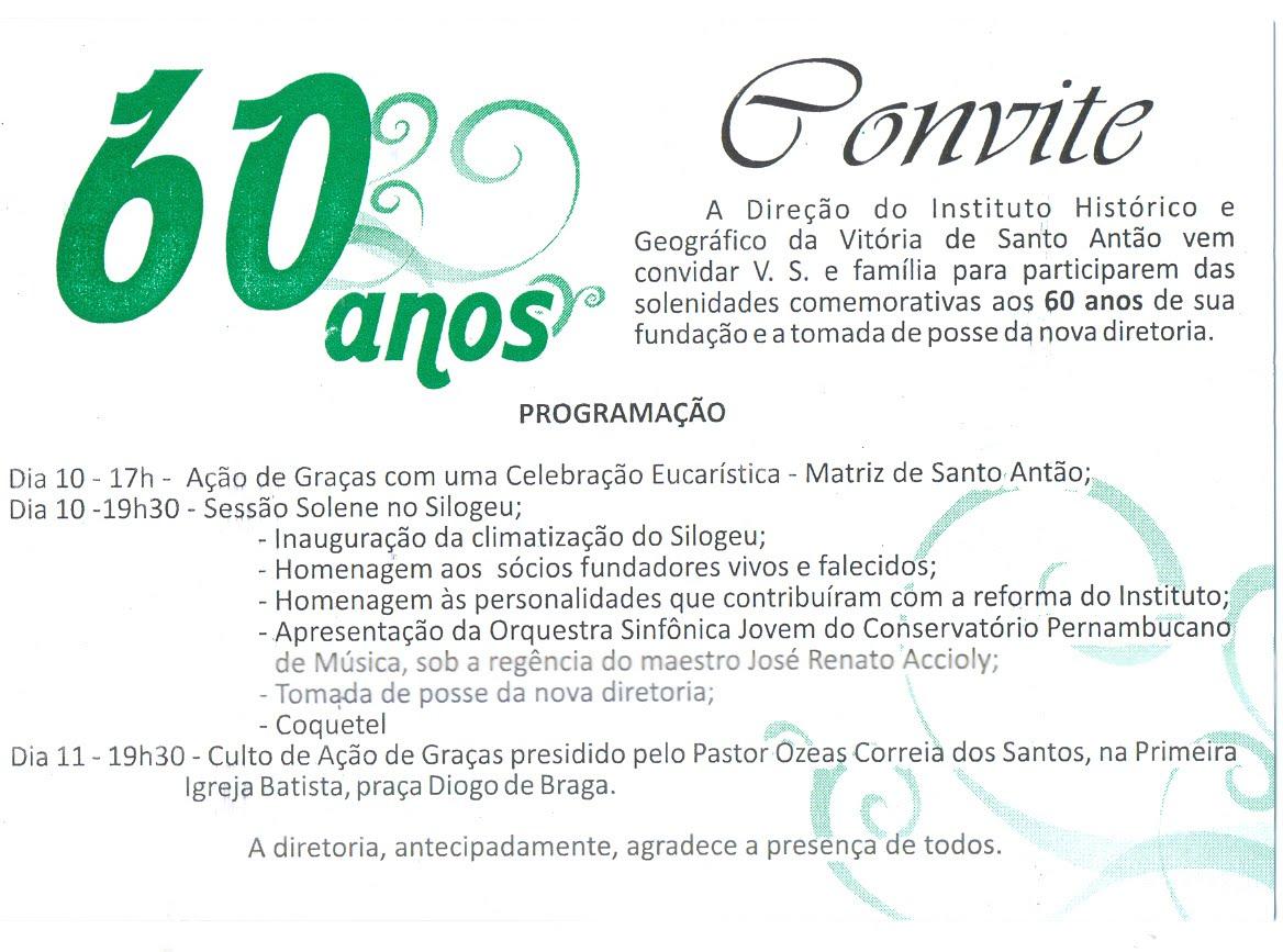 Instituto Histórico Da Vitória Completa 60 Anos A Voz Da Vitória