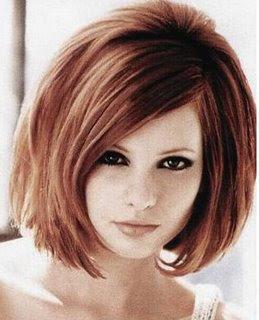 Peinado rojo encendido