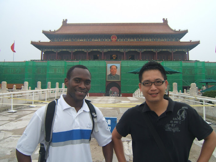 This is in Front of the Door Of Forbidden City