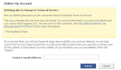 Facebook says sorry for change in Terms of service
