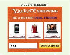 Yahoo!Shopping Search in Advertisement