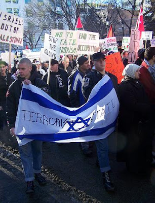 Canadian Neo-Nazis & Islamists March Together Against Israel