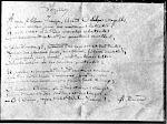Manuscrito del poemas de las vocales
