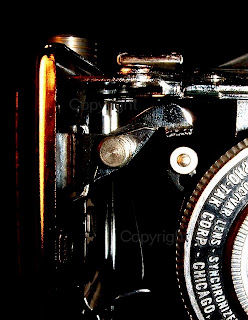macro vintage antique camera black