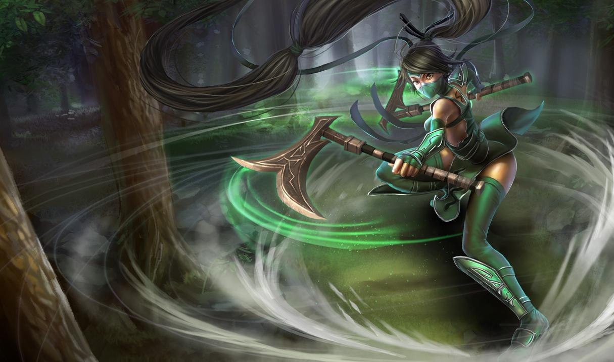 league of legends wallpaper akali the fist of shadow