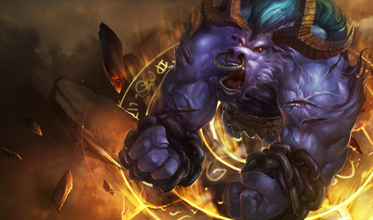 league of legends wallpaper alistar the minotaur