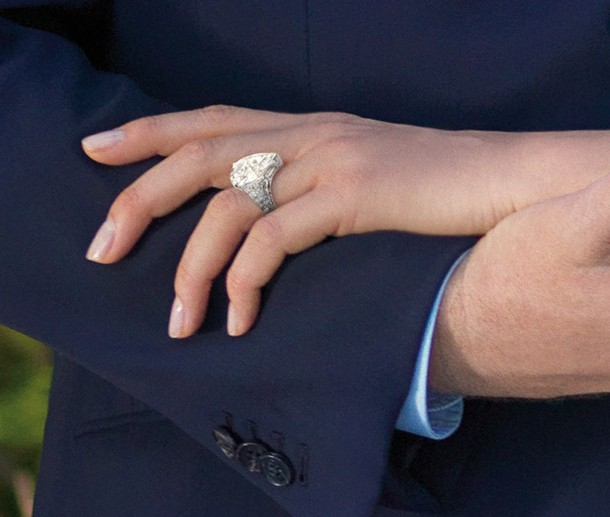 Charlene Wittstock's whopper of a pearshaped diamond engagement ring set me
