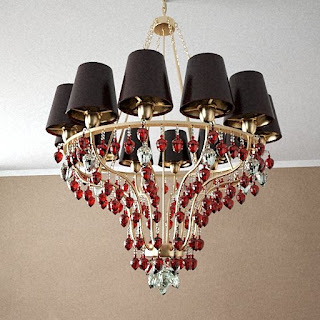Free 3D model - Golden strawbs chandelier
