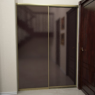Free 3D model - Bronze Sliding Door System