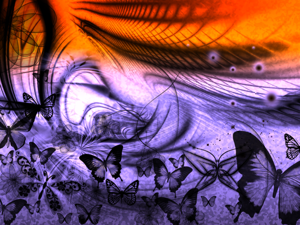 Fantasy butterflies purple - photo#2