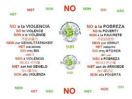 NO a la pobreza, No a la violencia