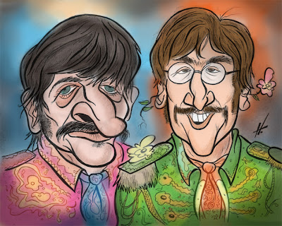 the beatles caricature