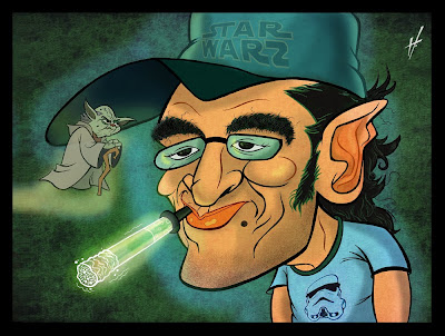 Star Wars Nerd Caricature