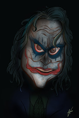 Caricature - Heath Ledger as The Joker