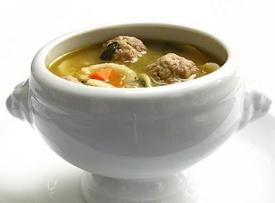 Mini Meatball Soup Italian Wedding Recipe Courtesy Rachael Ray