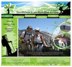 Diseño sitio Web ( Ecoturismo Tierraverde)