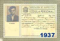 Cédula Personal 1937