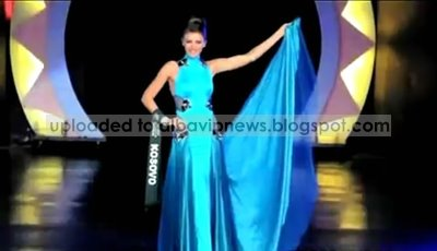 Yllka Berisha Evening Gown Miss Earth 2008