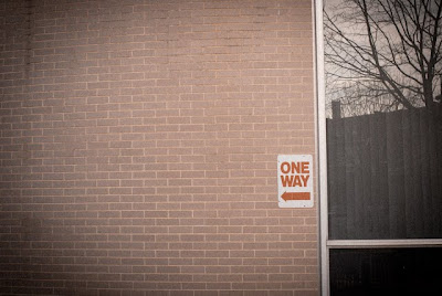 one way sign, NW Washington DC