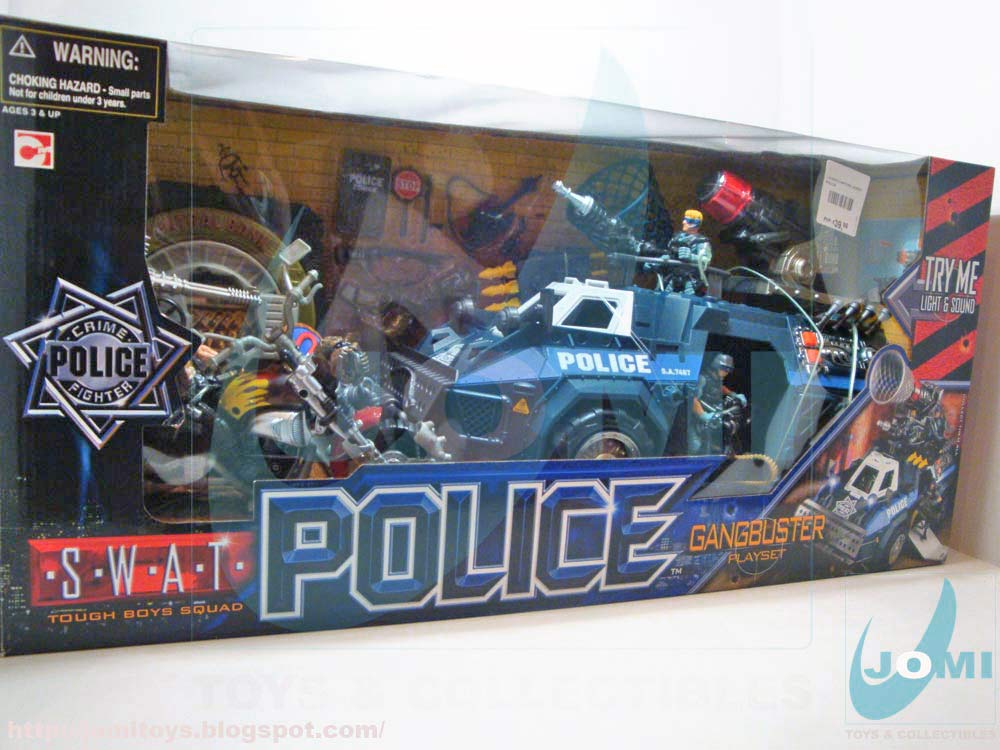 Big Boy Toys Police : Jomi toys under maintenance swat police gangbuster playset