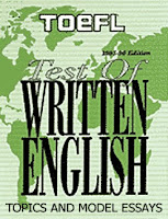 written toefl essays Toefl sample essays: learning to write well is a skill, like any other this ability is important not only in the toefl, but also in their academic and professional.