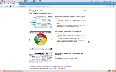 Screenshot do Google Chrome no Ubuntu 9.10